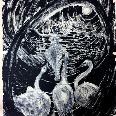 Sibelle Litografi-Brigit-Between-The-Elements-40x32