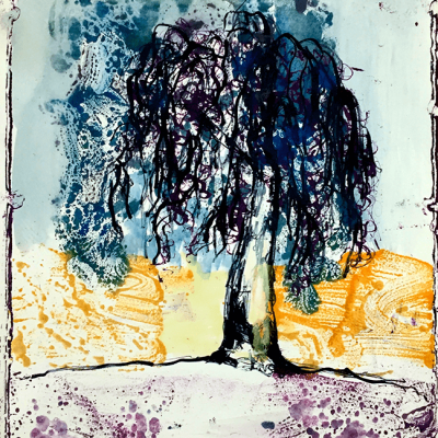 Sibelle Litografi-Monotypi-The-Tree-40x32