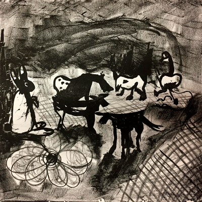 Sibelle Litografi-The-Farm-27x28
