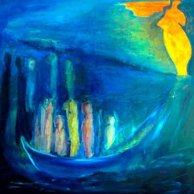 Sibelle Oilpainting-The-Boat-100x100
