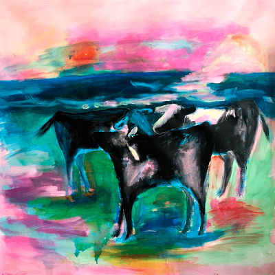 Sibelle Oilpainting-The-Cows-100x100