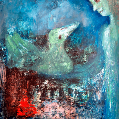 Sibelle Oilpainting-The-Green-Bird-82x66