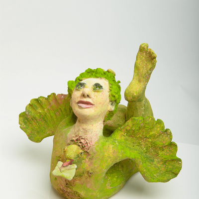Clay sculpture - Green - 20cm x 26cm x 29cm