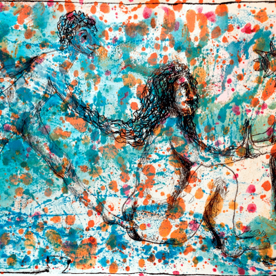 Litografi - mixed tecnic - Connected - 31cm x 47cm